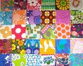 Vintage Fabric Squares - 30 x 5 inch charm squares