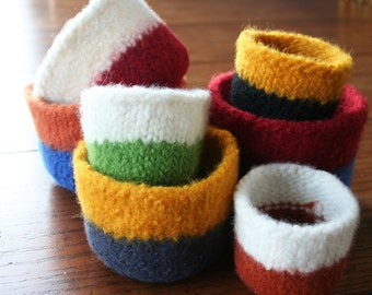 college dorm room decor - felted bowl - key holder - grad gift - SMALL BOWL