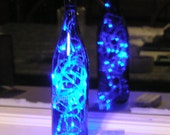 Blue Bottle Light (Saratoga bottle) with Blue LED lights - Battery Operated