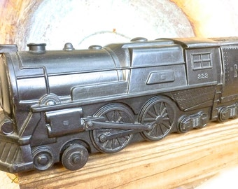 Collectible Toy Train, Marx RR Large 20 inch long, Vintage Plastic Locomotive, Retro Fun Novelty Gift, Train Collector's Gift