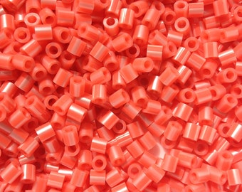 Perler Beads for Sale - Hot Coral Pearl Stripe (148)