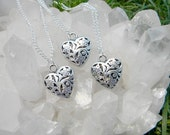 Essential Oil Pewter Heart Necklace