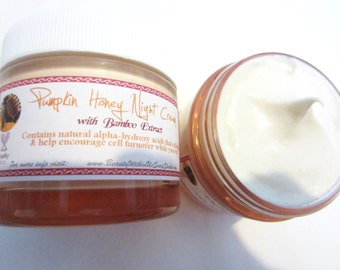Pumpkin-Honey Night Cream with Bamboo Extract Encourages Cell Turnover Enzymes Youthful Glow Fights Free Radicals