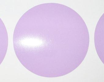 "6"" Lilac Circle Vinyl Decals, Polka Dot Wall Decals"