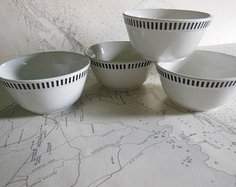 Set of Four Vintage English Cafe Bowls