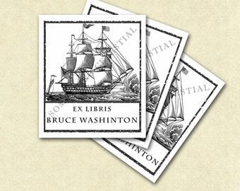 American Ship set of 20 Bookplates
