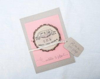 Custom Hand Lettered Save The Date Stamp Custom Wedding