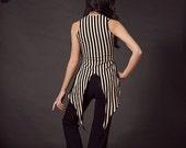 Ringmaster Vest, Steampunk, Circus, Stripes