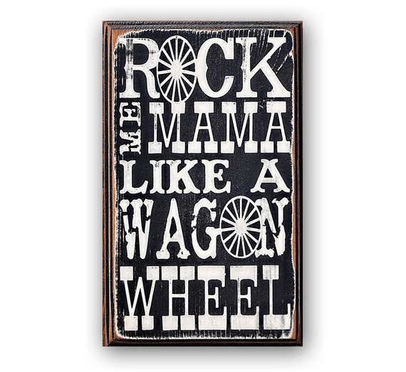Rock Wall Home Decor : Rock me mama distressed home decor wall art by
