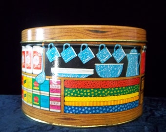 General Store Country Tin Signed Odom by Hallmark - Vintage Home Kitchen Decor