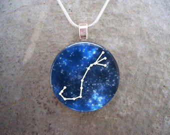 Scorpio Constellation Jewelry - Glass Pendant Necklace - Astronomy - Science
