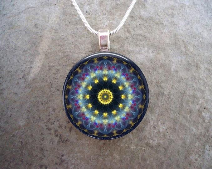 Mandala Jewelry - Glass Pendant Necklace - Mandala 44