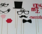 10 New Year Eve 2015 Photobooth Prop - Photo Booth - Photo Booth Prop - Wedding Prop New Years Eve Mustache Moustache Bash