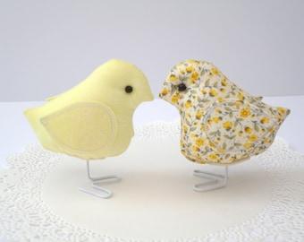 Lemon Fabric Birds - New Range
