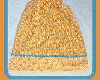 Geometric Flowers Pillowcase Dress