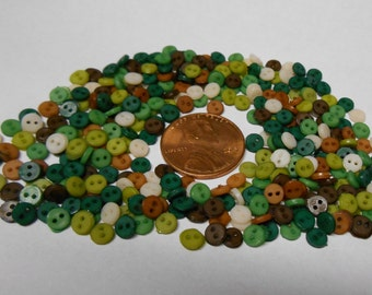 Now WHOLESALE! Get 400+ CAMO Mix 4mm 2 hole tiny buttons for only 3.59!