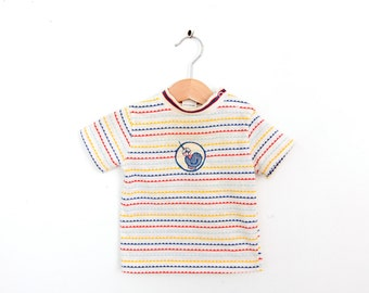 Vintage Baseball Shirt in Red White Yellow and Blue 18 months