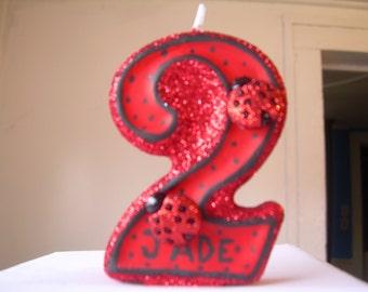 Ladybug Birthday Candle