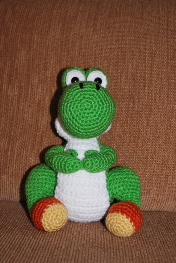 Crochet Patterns Yoshi : Crochet Yoshi by theBlackLory on Etsy