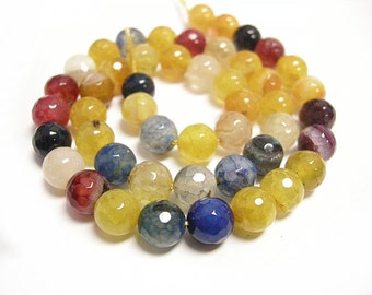 15 inch strand 8mm Dyed Natural Agate Beads(46-48 beads)-8386