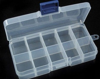 2pcs Small Plastic Bead Storage Container-Q33