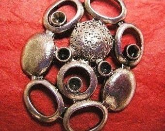 4pc antique silver chandelier component-4125