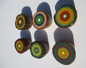 Cabinet / Dresser  Knob Pulls from Reclaimed  Barn Ladder Rungs - Hand Painted - Set of 6 (6PK1)