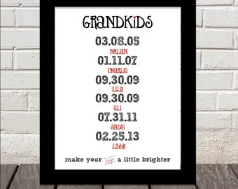 GRANDKIDS make your days a little brighter print :)