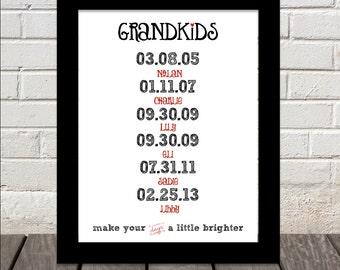 GRANDKIDS make your days a little brighter print :)