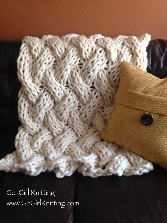 Giant Knit Blanket Pattern : Items similar to Birds Nest Blanket on Etsy