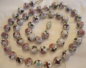 White cloisonne necklace