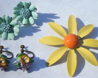 Flower Jewelry Lot