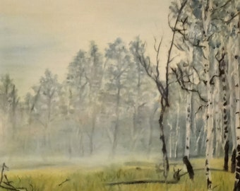 "8 X 10 Fine Art Print of my Original Oil Landscape Painting ""Wisconsin Morning"""