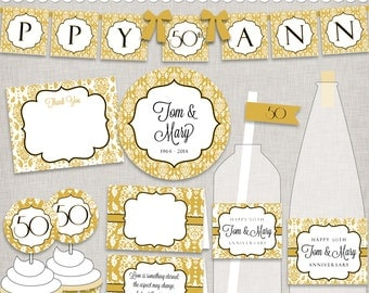 50th Golden Anniversary Printable Party