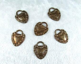 Nice brass fancy lock charm