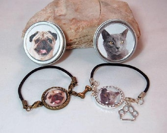 Pet Photo Bracelet Custom Personalized Picture With Matching Gift Tin ladies Girls Teens Friends Pet Jewelry