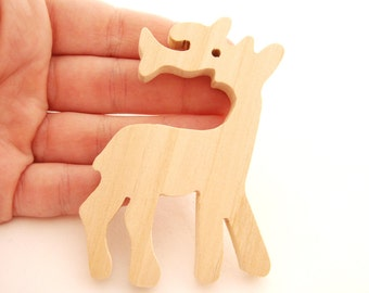 Wooden Christmas Reindeer Ornament