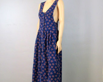 80's Dress 90's Dress Minimalist Dress 80's Jumper Dress Vintage Dress Hippie Dress Boho Dress Slouchy Sleeveless Dress Dress Grunge Dress H
