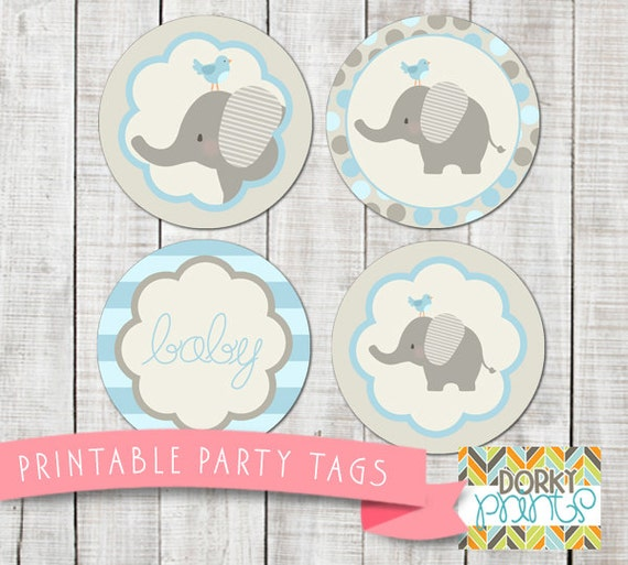 Tactueux image with regard to printable elephant baby shower