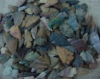 5 reproduction arrowheads spearheads jasper stone points for crafts,necklaces,earrings,wire wrapping,scrapbooking,etc knb
