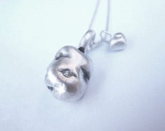 Potato Love Necklace Sterling Silver with Diamond