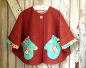 Gwendolyn - Girl's Cape Pattern. Easy Girl's PDF Sewing Pattern. Toddler Sewing Pattern. Sizes 1-10