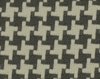 ON SALE - Charcoal Grey Woven Houndstooth Upholstery Fabric