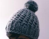 Hand knit super cozy beanie - ready to ship
