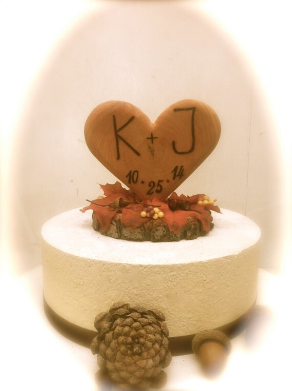 autumn wedding cake topper fall wedding cake topper rustic wooden 10908