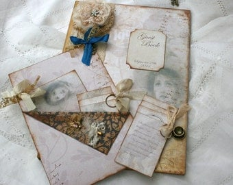 Beauty and the Beast themed wedding guest book