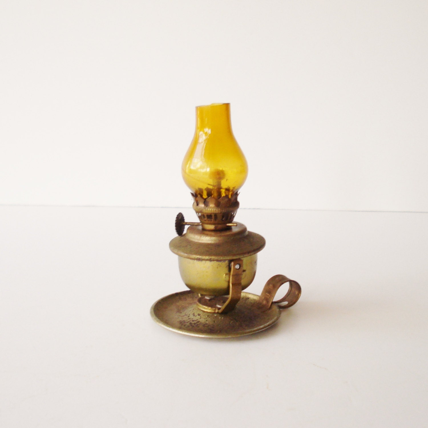Vintage Miniature Oil Lamp Tabletop or Wall Hanging Oil Lamp