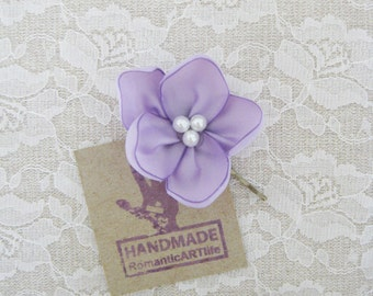Lavender Flower Hair Pin. Lavender Flower Hair Piece. Bridesmaid Hair Accessory.