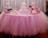 tutu table skirt, ruffle skirt, tulle skirt, baby shower, birthday decor, wedding