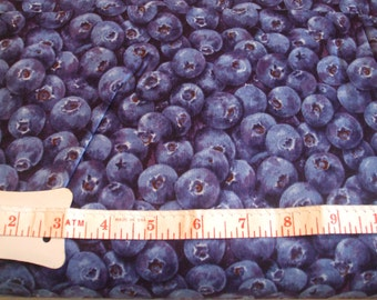 Blueberries! 100% cotton Fabric